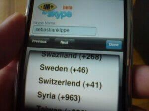 skype in Iphone