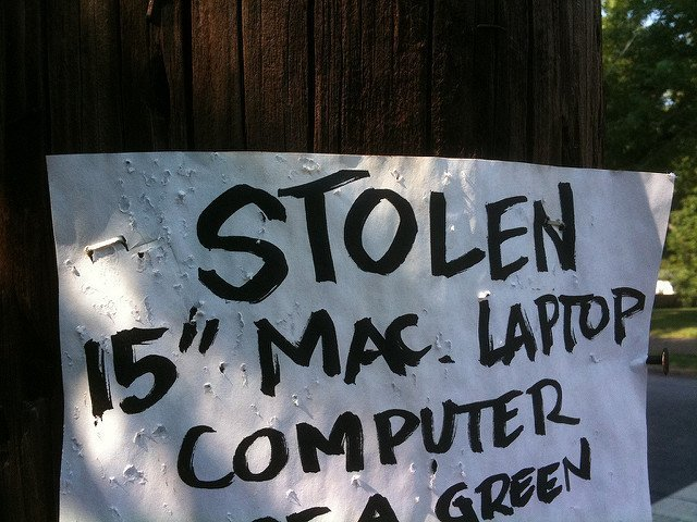 MAC laptop stolen