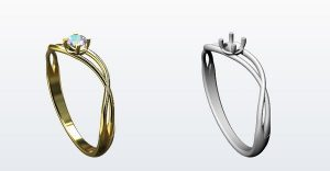 ring modeled with CAD software